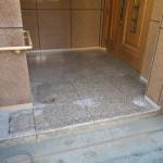 住宅 玄関前 床シート張り工事