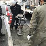 筑紫野市 マンション 舗装補修工事 床面斫り工事