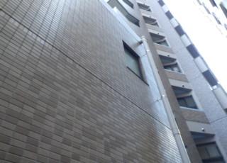 マンション外構塀天端石浮き部補修工事